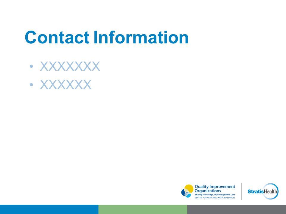 Contact Information XXXXXXX XXXXXX