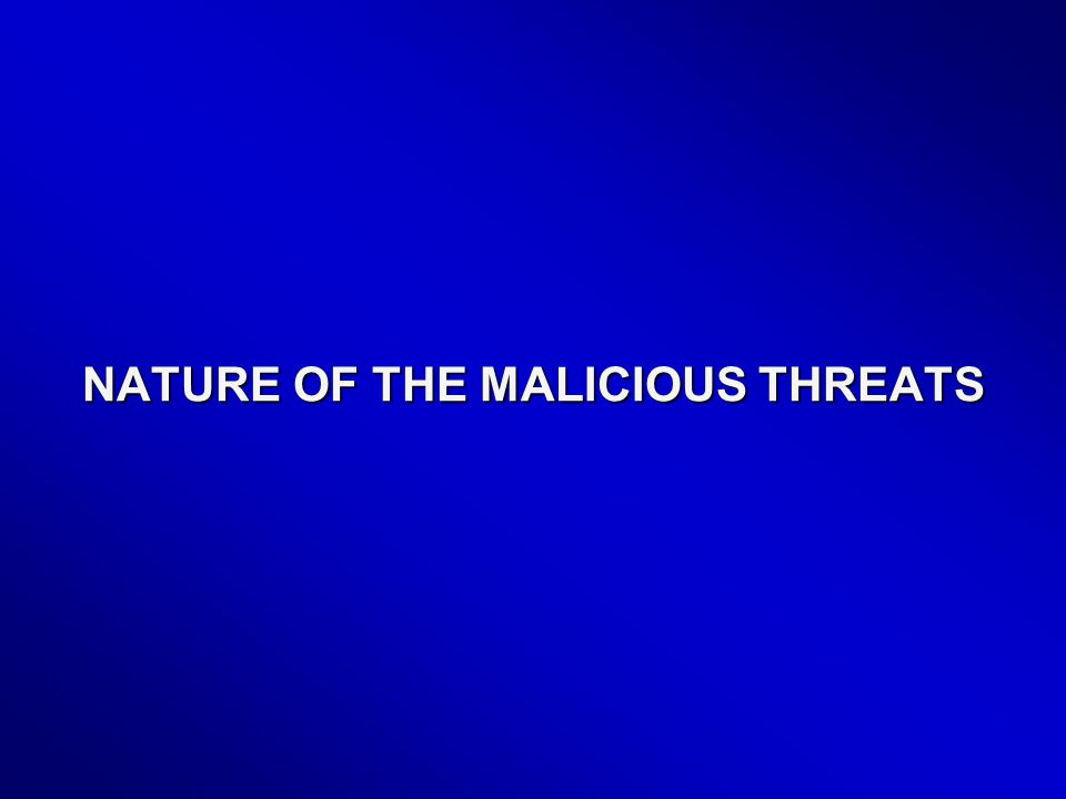 NATURE OF THE MALICIOUS THREATS