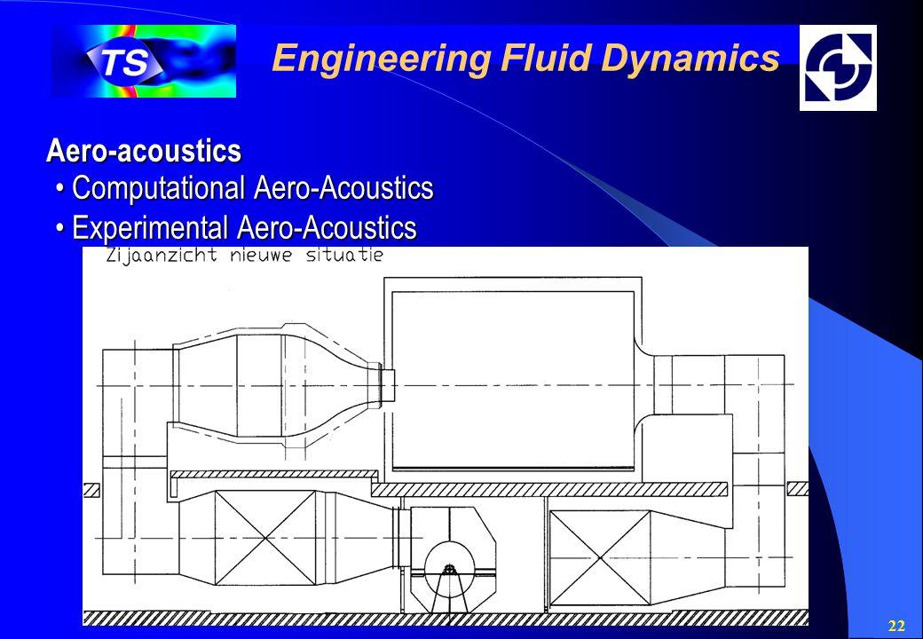 22 Engineering Fluid Dynamics Aero-acoustics Computational Aero-Acoustics Computational Aero-Acoustics Experimental Aero-Acoustics Experimental Aero-A