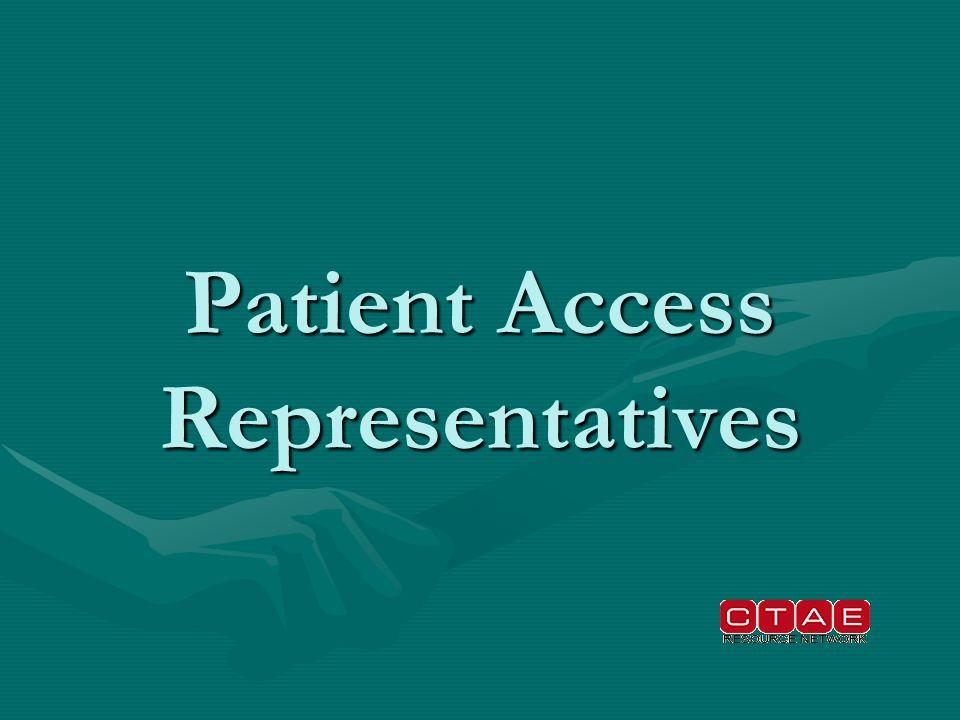 Patient Access Representatives