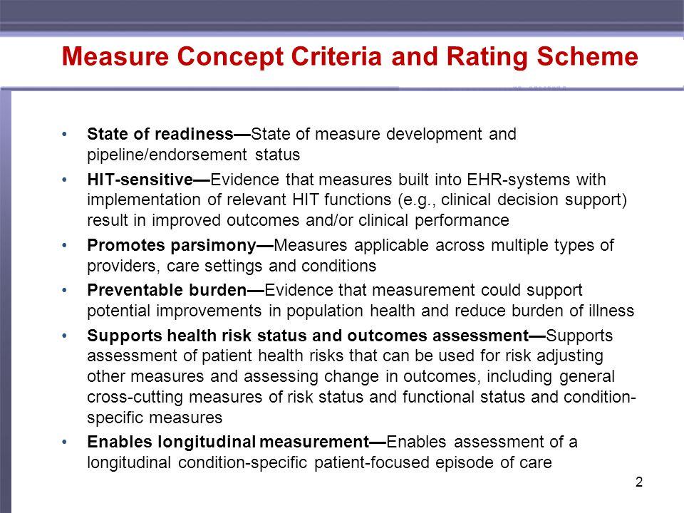 Measure Concept Recommendations 4.