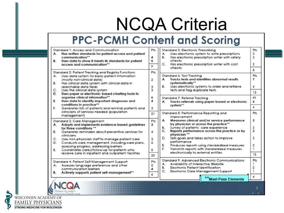NCQA Criteria