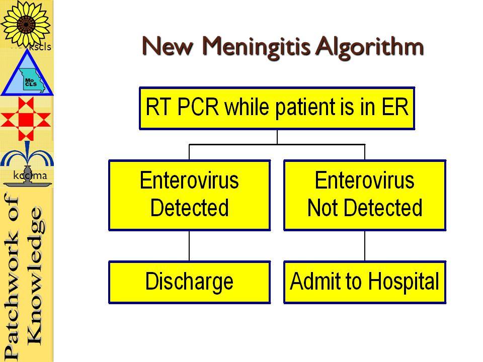 kscls kcclma New Meningitis Algorithm