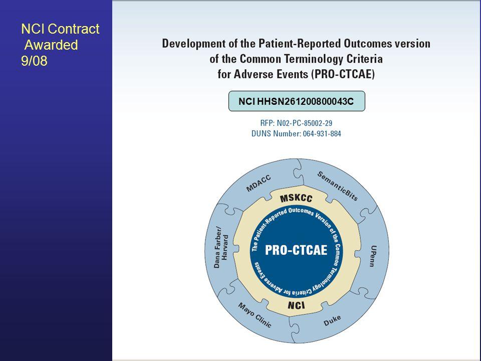 NCI HHSN261200800043C NCI Contract Awarded 9/08