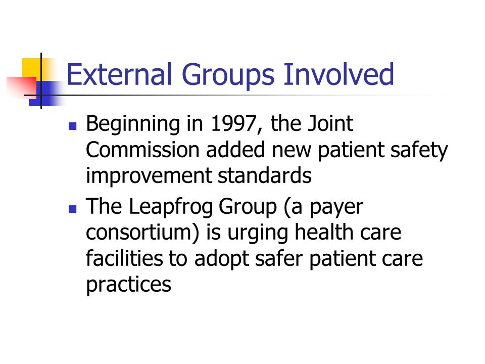 Everyone Has a Role in Patient Safety Employees and Physicians Management Administrative and Medical Staff Leaders