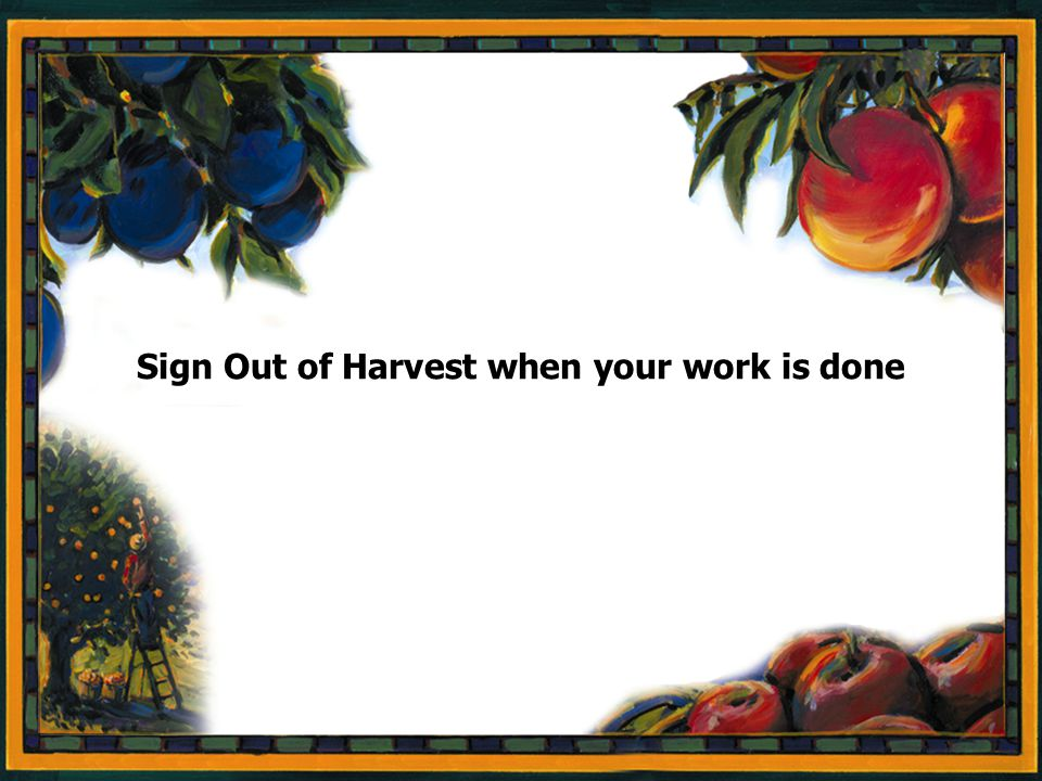 Page 52 Sign Out of Harvest when your work is done