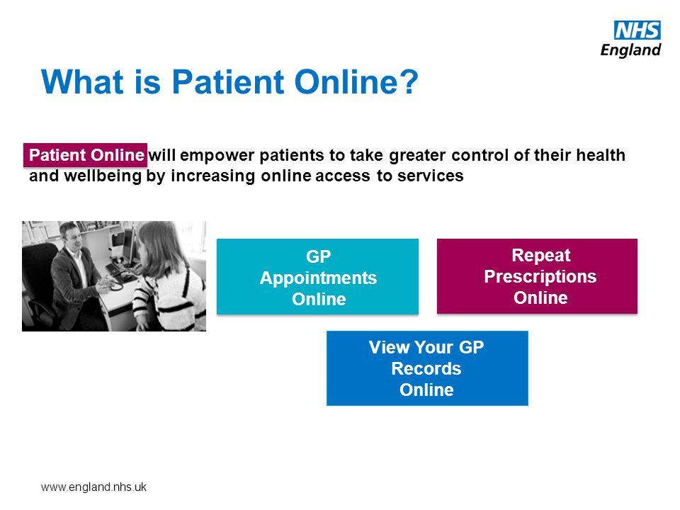 www.england.nhs.uk What is Patient Online.