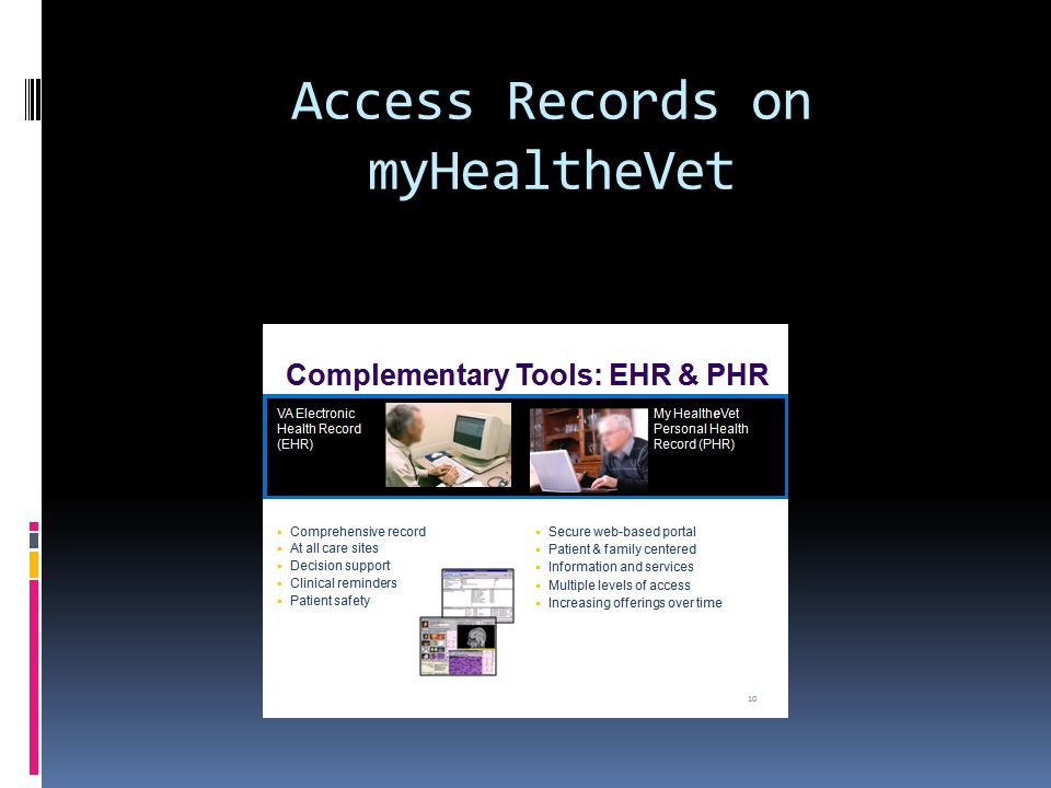 Access Records on myHealtheVet