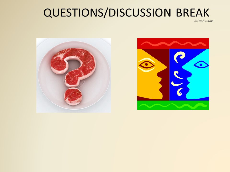 QUESTIONS/DISCUSSION BREAK MICROSOFT CLIP-ART