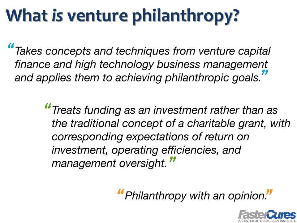 What is venture philanthropy