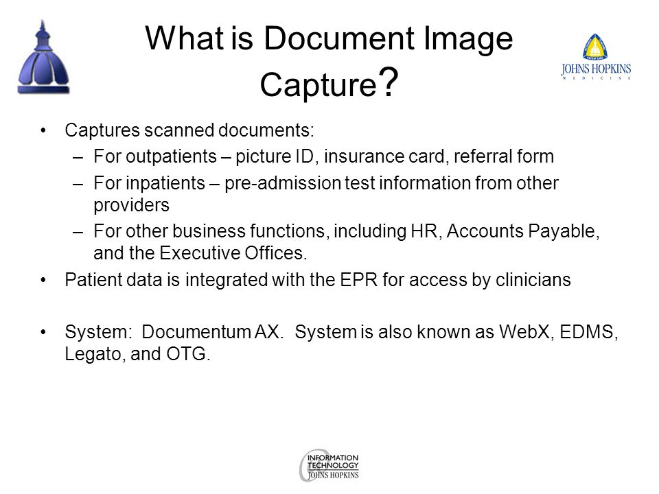 What is Document Image Capture .