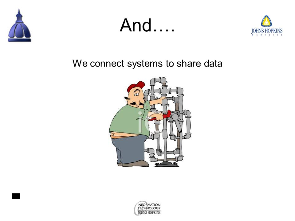 And…. We connect systems to share data