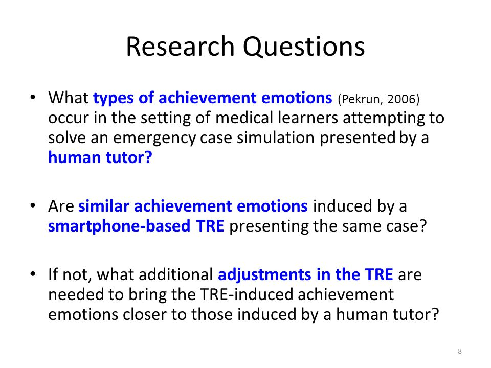 Methods User-centred design iterative approach (Lai et al 2010) – DP app developers interact with 5 target users to test and adjust TRE design choices – Modules for collecting user data embedded into the TRE Compare + adjust TRE to human Tutor with using an isometric case for 10 medical learners
