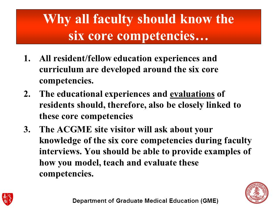 Department of Graduate Medical Education (GME) Systems-Based Practice Fellows must demonstrate an awareness of and responsiveness to the larger context and system of health care and the ability to effectively call on system resources to provide care that is of optimal value.