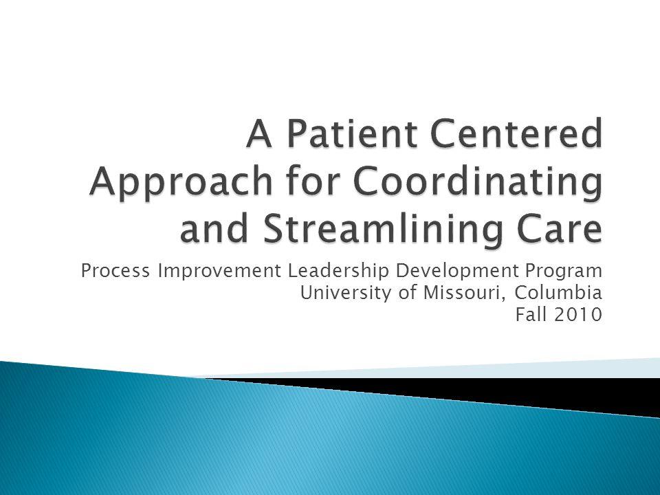 Process Improvement Leadership Development Program University of Missouri, Columbia Fall 2010
