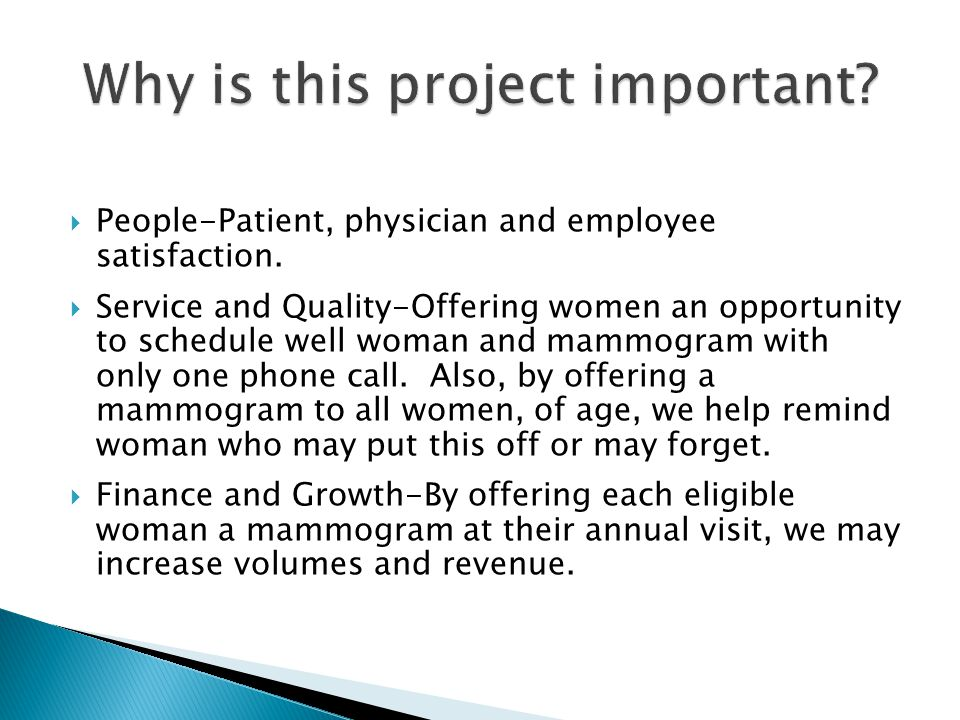  People-Patient, physician and employee satisfaction.