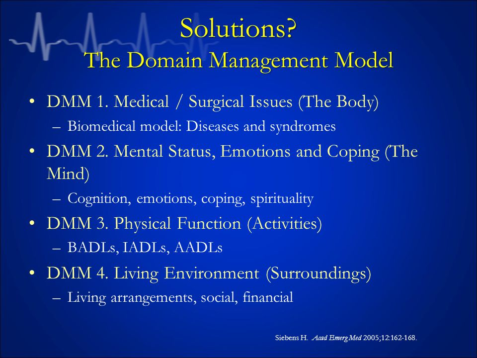 Solutions. The Domain Management Model DMM 1.