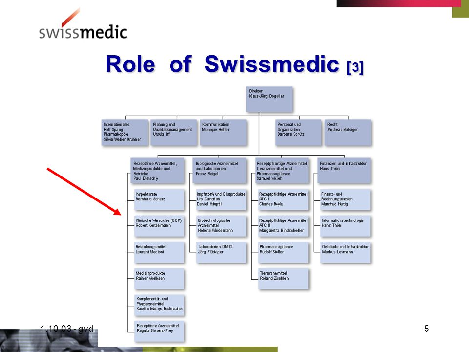 1.10.03 - gvdCT Monitoring4 Role of Swissmedic [ 2 ] NDA Reviews Marketing Authorisations Pharmacopoeia Monographies Pharmacovigilance [ Benini F.