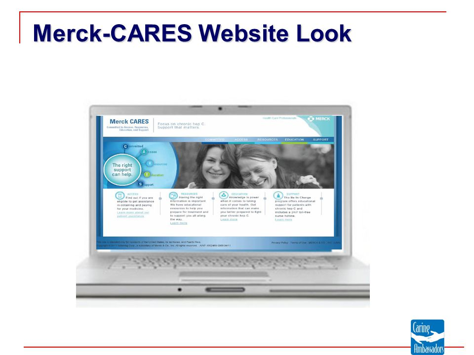 Merck-CARES Website Look