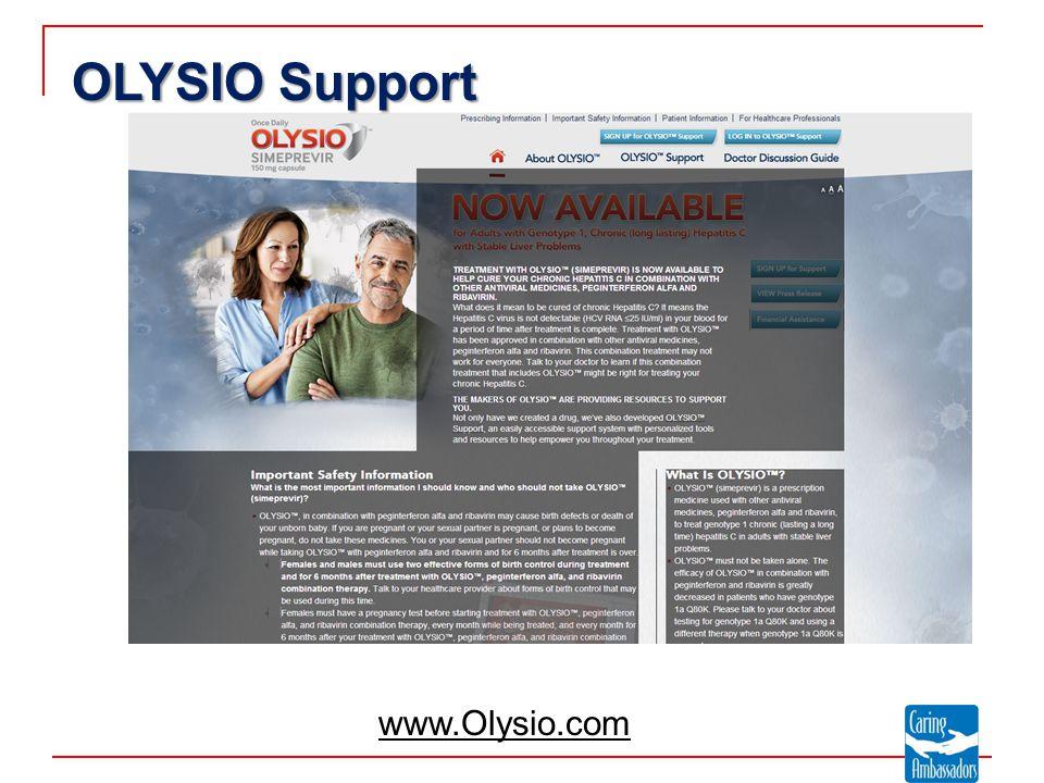 OLYSIO Support www.Olysio.com