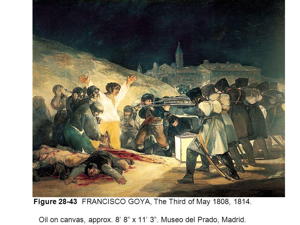 Figure 28-43 FRANCISCO GOYA, The Third of May 1808, 1814.
