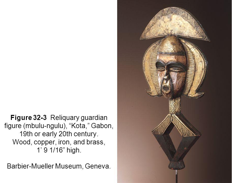 Figure 32-3 Reliquary guardian figure (mbulu-ngulu), Kota, Gabon, 19th or early 20th century.