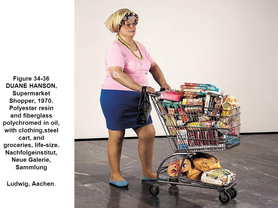 Figure 34-36 DUANE HANSON, Supermarket Shopper, 1970.