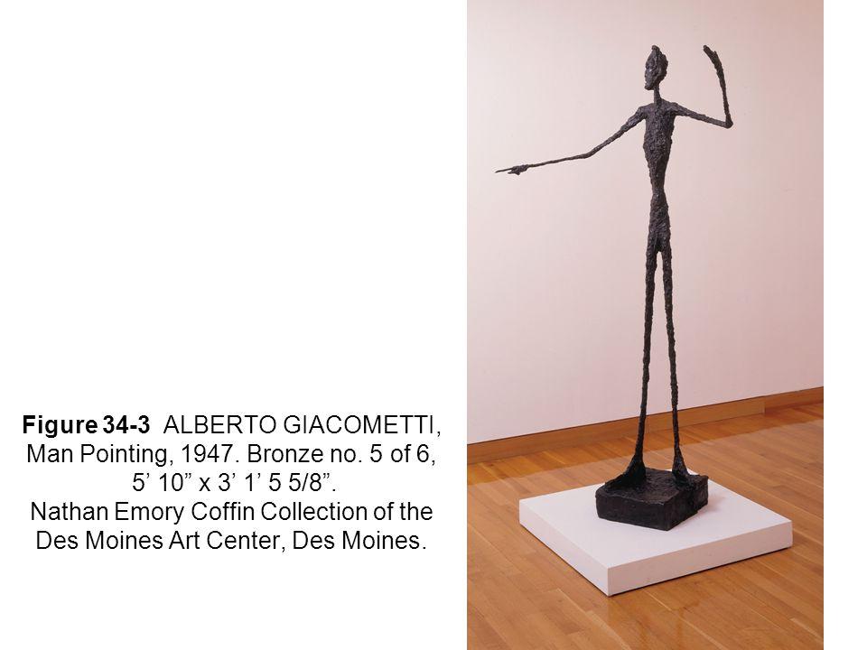 Figure 34-3 ALBERTO GIACOMETTI, Man Pointing, 1947.
