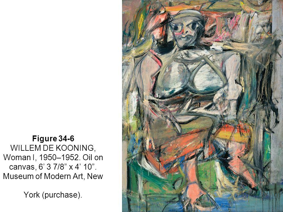 Figure 34-6 WILLEM DE KOONING, Woman I, 1950–1952.