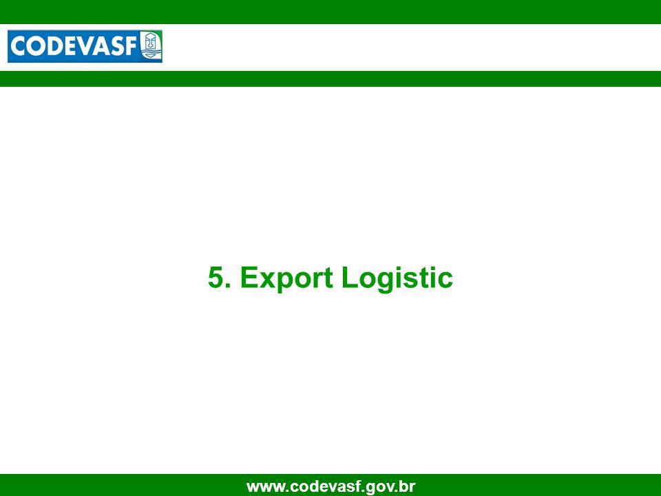 29 www.codevasf.gov.br 5. Export Logistic
