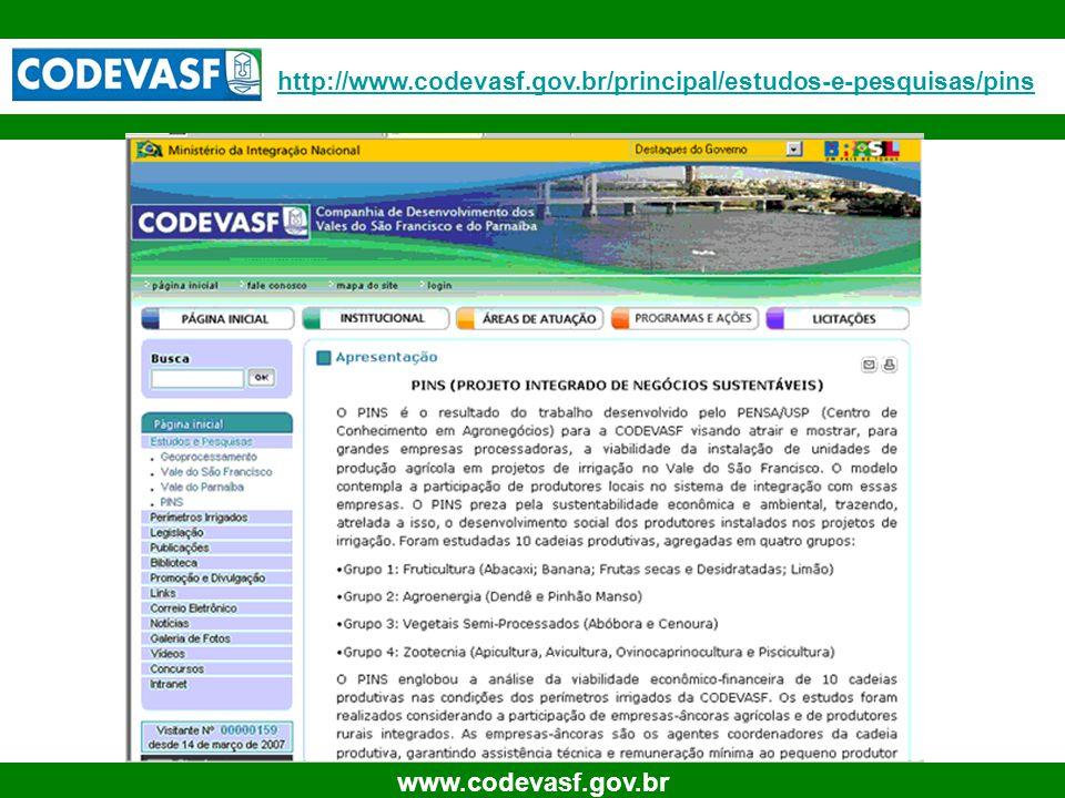 34 www.codevasf.gov.br http://www.codevasf.gov.br/principal/estudos-e-pesquisas/pins