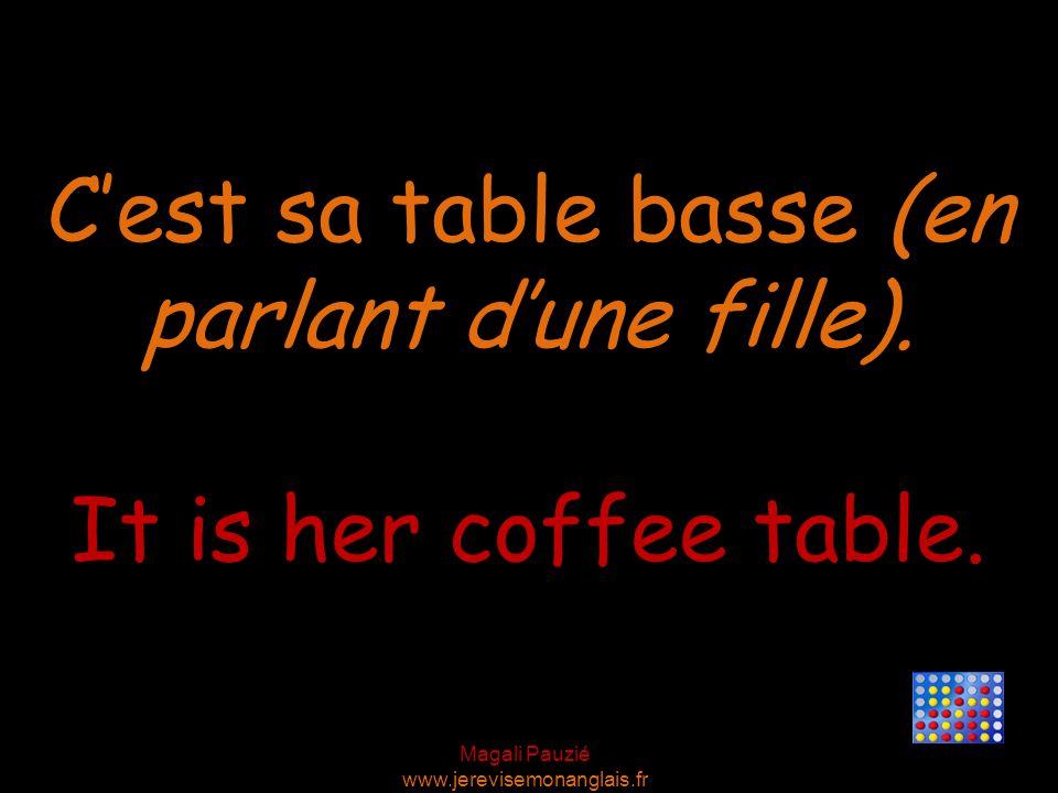 Magali Pauzié www.jerevisemonanglais.fr It is her coffee table.