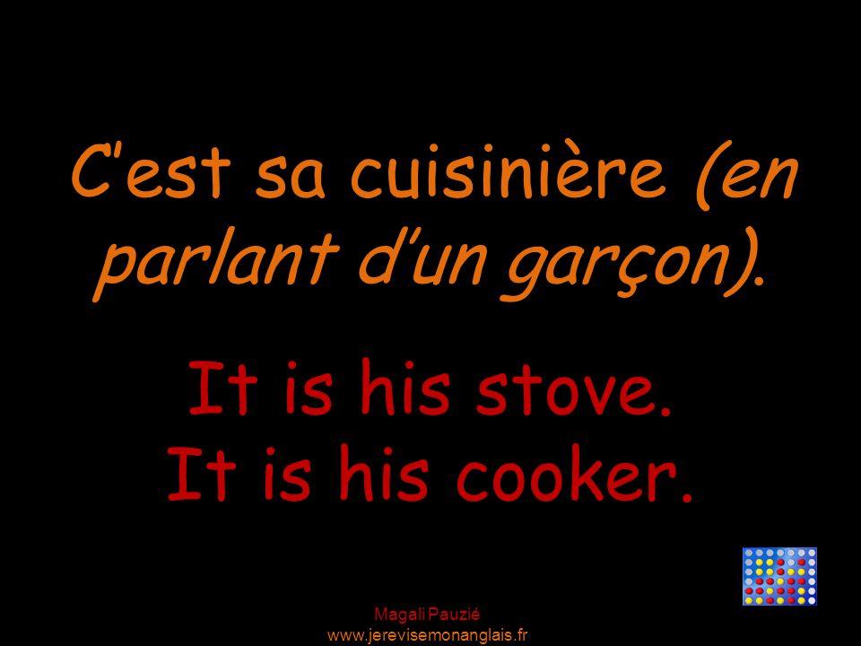 Magali Pauzié www.jerevisemonanglais.fr It is his stove.