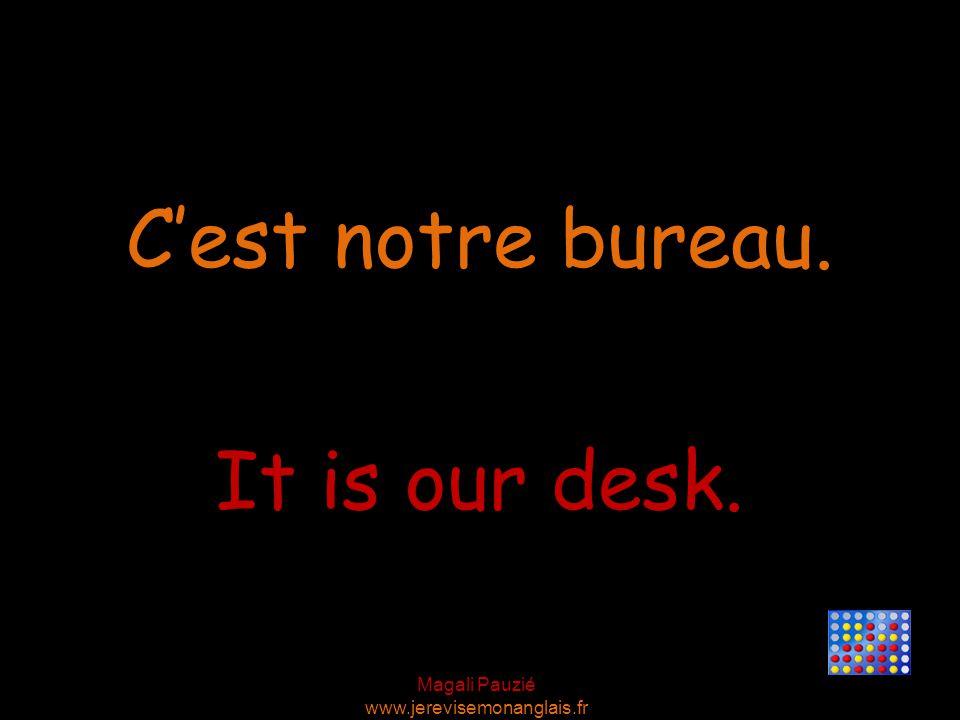 Magali Pauzié www.jerevisemonanglais.fr It is your chair. C'est ta chaise.