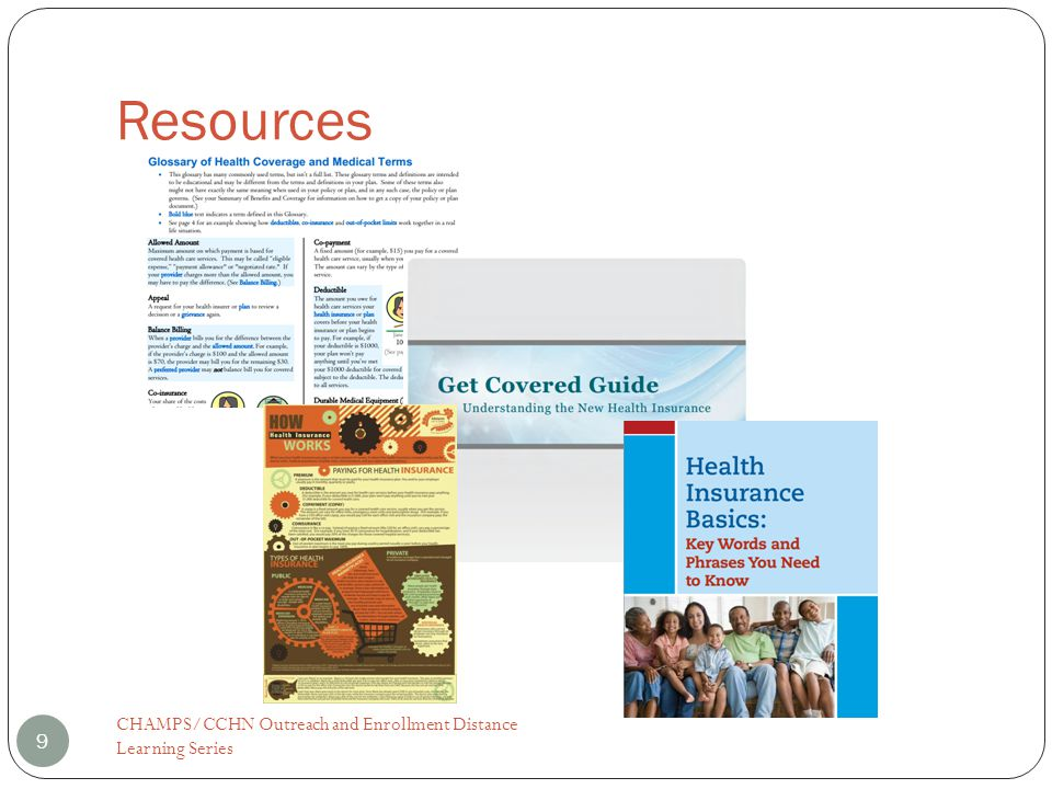 Resources CHAMPS/CCHN Outreach and Enrollment Distance Learning Series 9