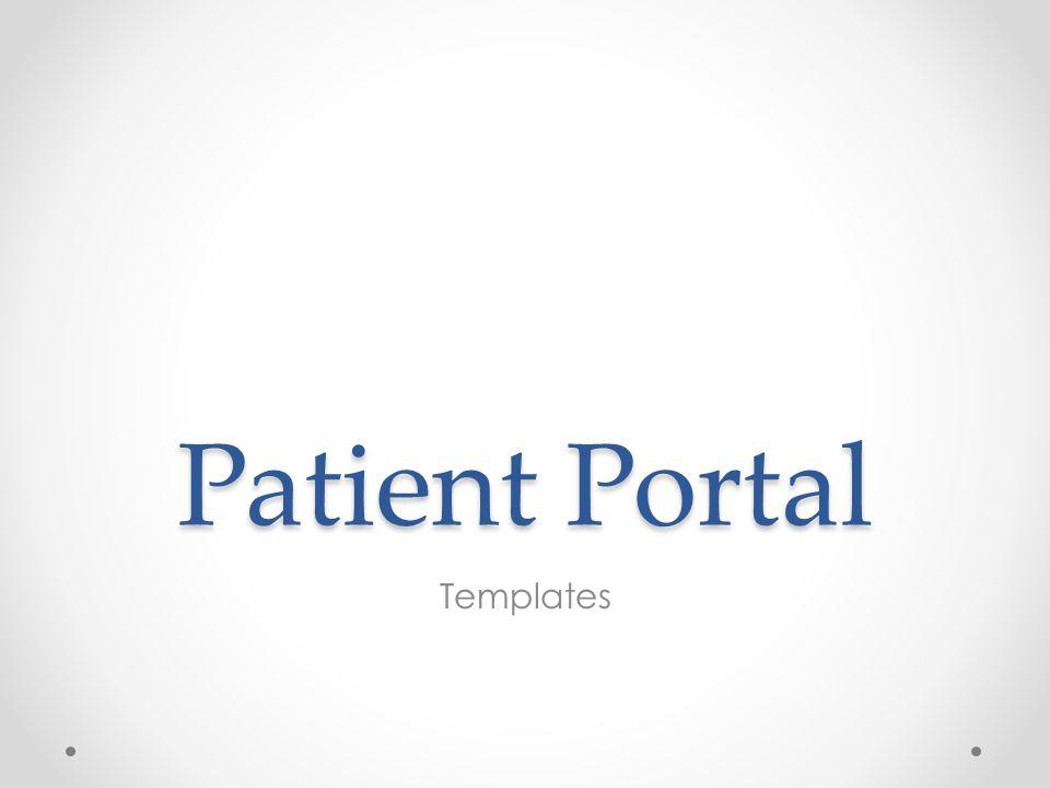 Patient Portal Templates