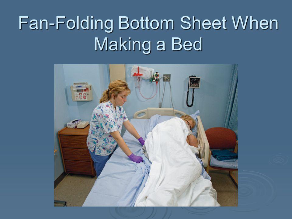 Fan-Folding Bottom Sheet When Making a Bed