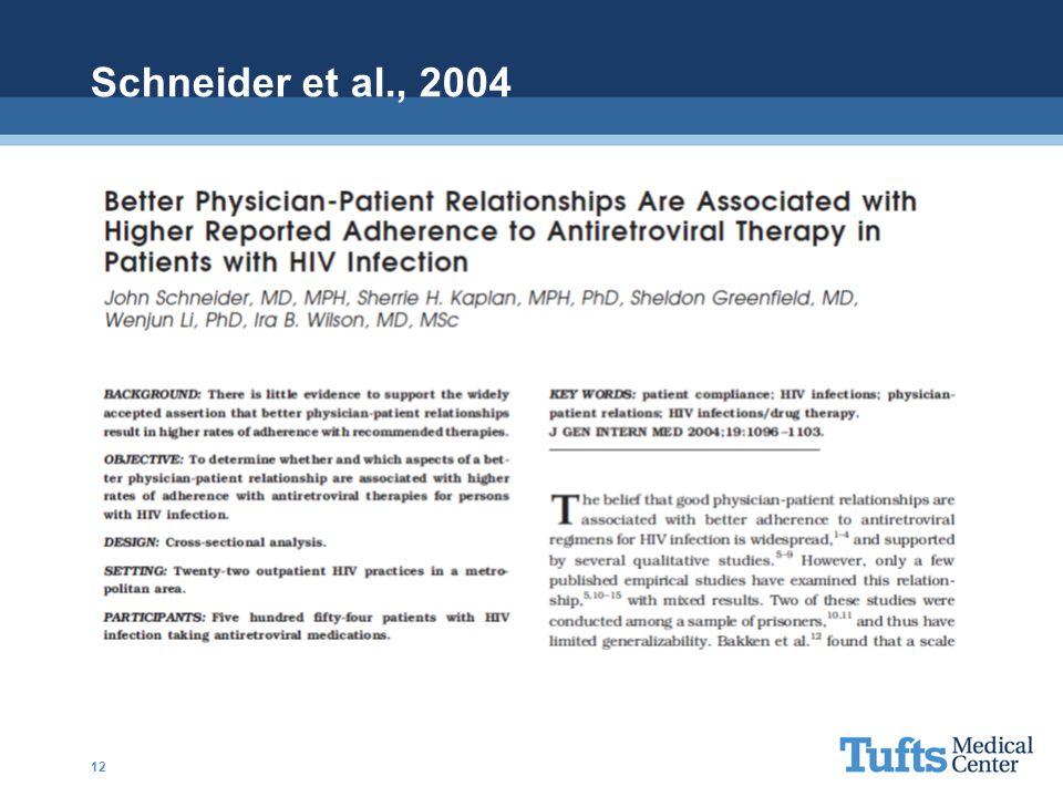 Schneider et al., 2004 12