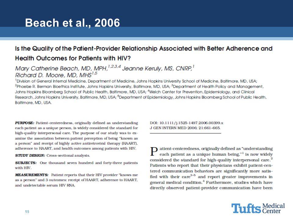 Beach et al., 2006 15