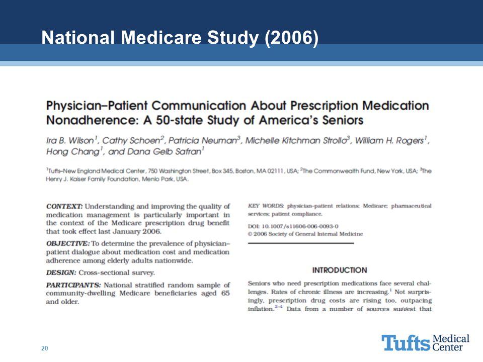 National Medicare Study (2006) 20