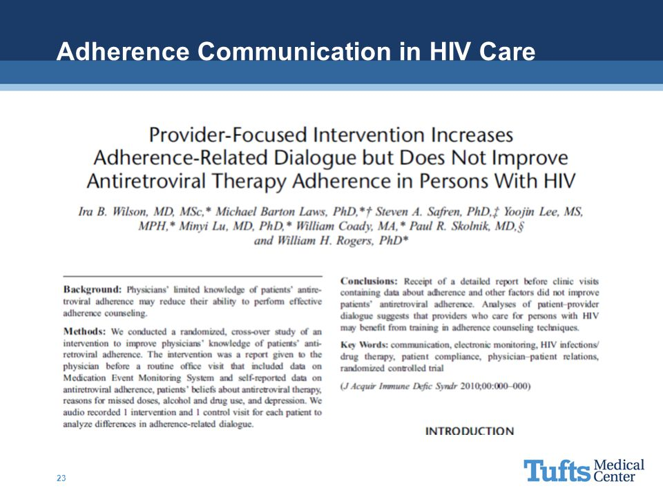 Adherence Communication in HIV Care 23