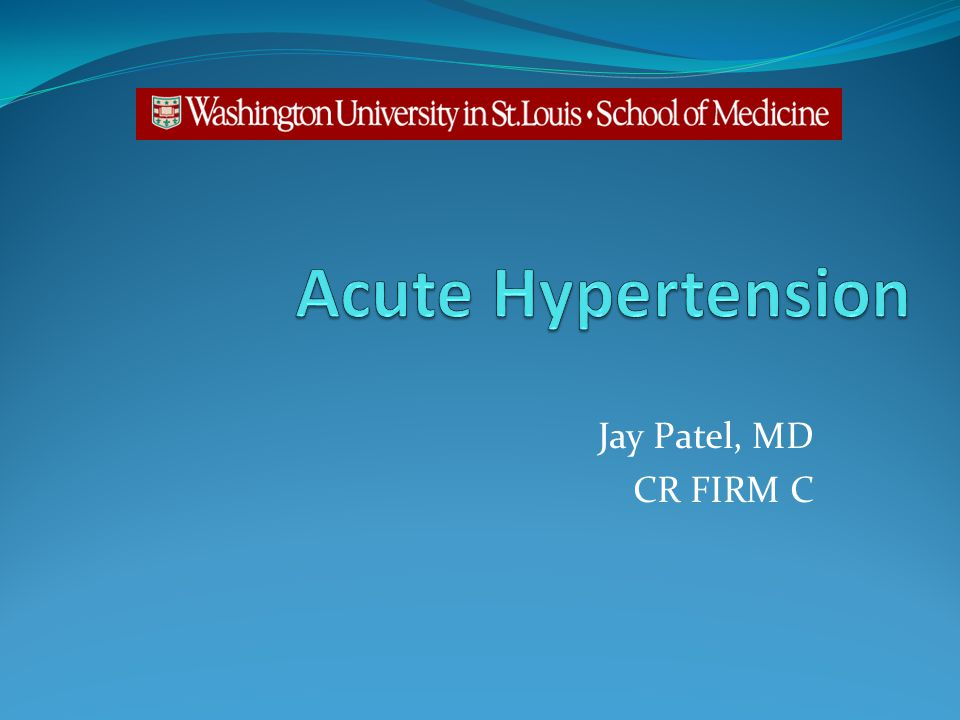Jay Patel, MD CR FIRM C