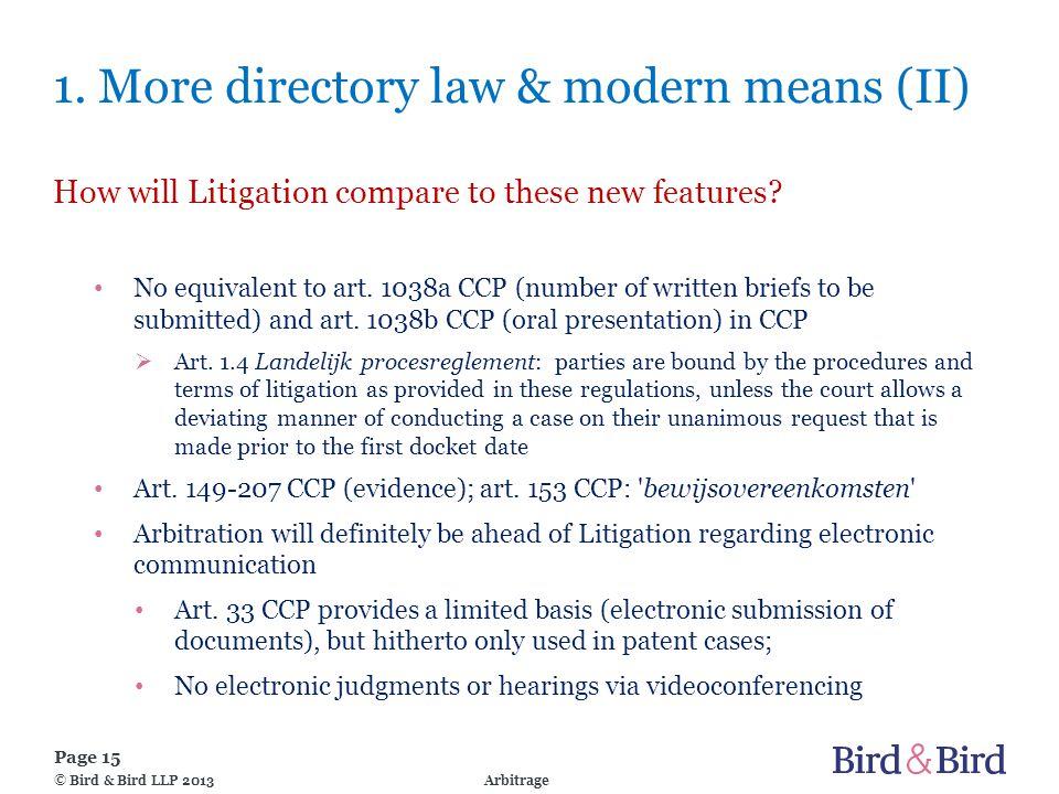Page 15 Arbitrage© Bird & Bird LLP 2013 1.