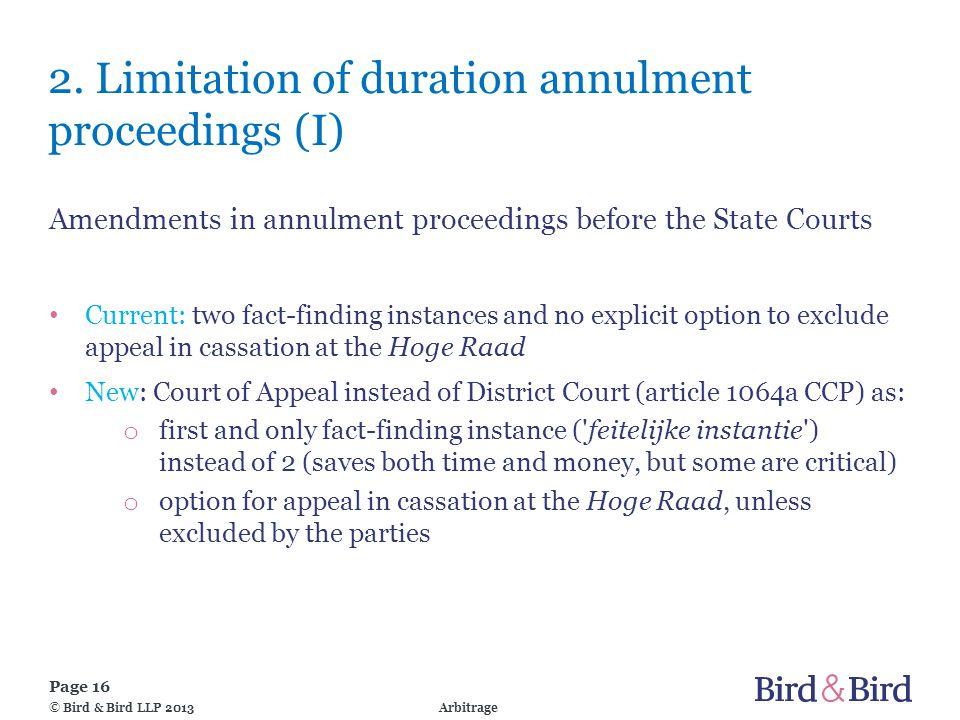 Page 16 Arbitrage© Bird & Bird LLP 2013 2.