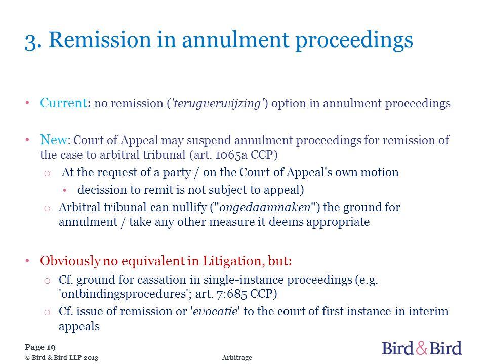 Page 19 Arbitrage© Bird & Bird LLP 2013 3.