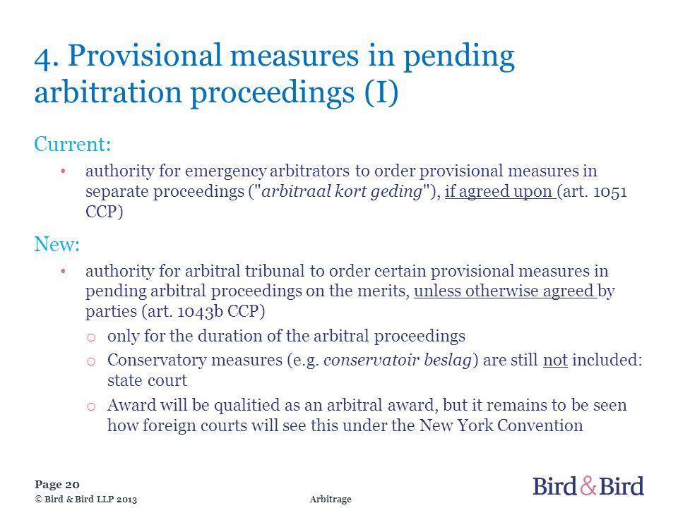 Page 20 Arbitrage© Bird & Bird LLP 2013 4.