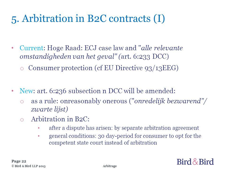 Page 22 Arbitrage© Bird & Bird LLP 2013 5.