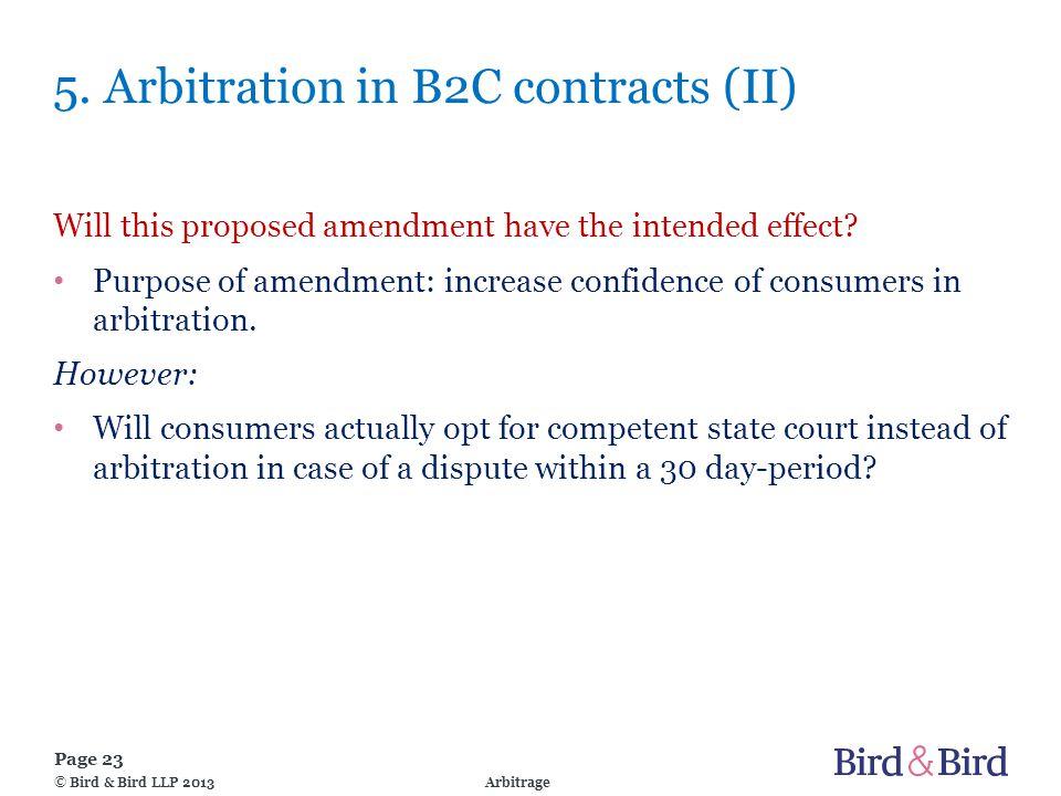 Page 23 Arbitrage© Bird & Bird LLP 2013 5.