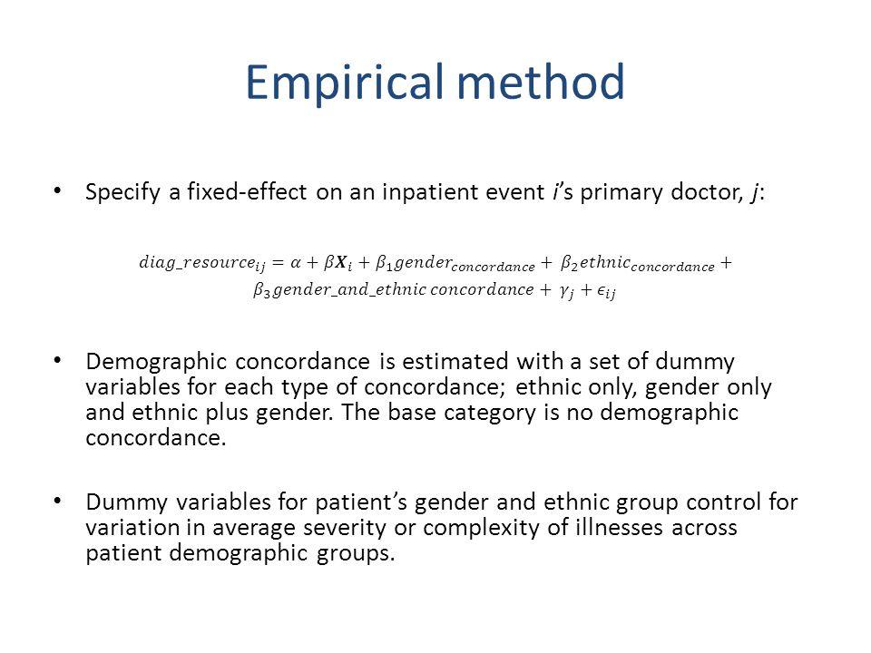 Empirical method
