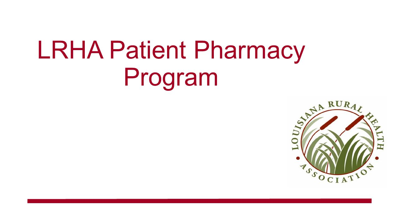 LRHA Patient Pharmacy Program